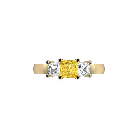 Dads ring yellow diamond idea