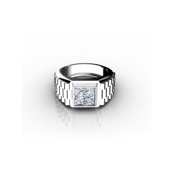 Princess cut diamond Rolex Ring